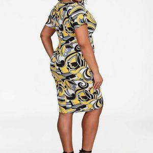 11c8c235c2e Ashley Stewart Dresses - Sale! Gorgeous Ashley Stewart yellow print dress